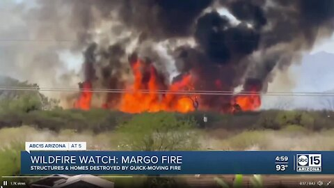 Margo Fire continues to burn near Dudleyville, still just 20 percent contained