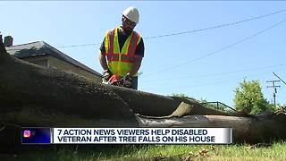 7 Action News viewers help disabled veteran after tree falls on his home - Video
