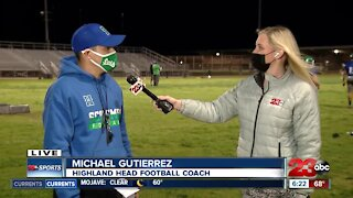 23ABC Sports: Live interview with Highland Head Coach Michael Gutierrez about the return of football