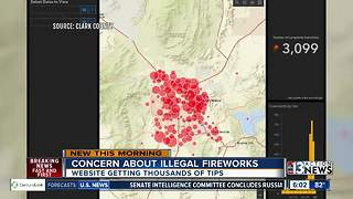 Tracking illegal fireworks in Las Vegas valley - Video