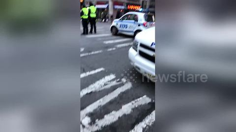 NYPD on scene after reports of explosive device on subway