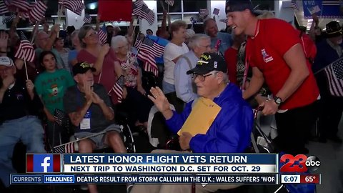 Kern County welcomes home Honor Flight veterans