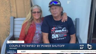 Couple with medical issues terrified by power shutoffs