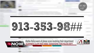 Olathe PD warn of phone scam involving its dept. - Video