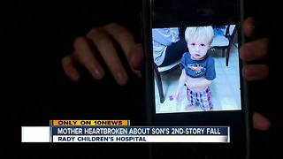 Mother speaks to 10News about son's 2nd-story fall - Video