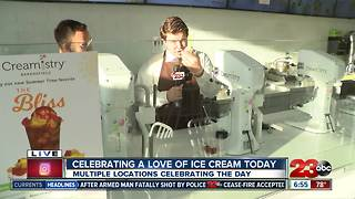 National Ice Cream Day comes to Bakersfield - Video