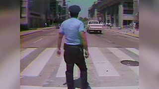 Throwback: 1977 traffic cop conducts symphony of sound on Monument Circle - Video