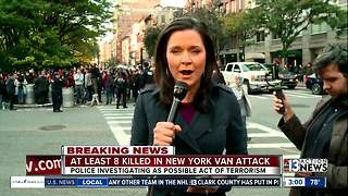 Several people killed after truck runs into bike path in New York attack - Video
