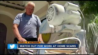 Watch out for work at-home scams