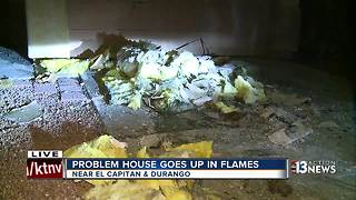 Problem house goes up in flames near El Capitan and Durango - Video