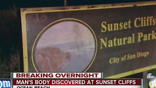 Man's body discovered at Sunset Cliffs - Video