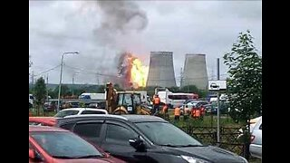Large Fire Breaks Out at Power Plant Near Moscow
