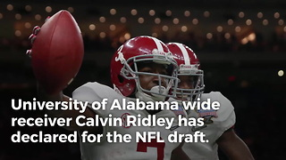 Elite Alabama WR Declares For NFL Draft - Video