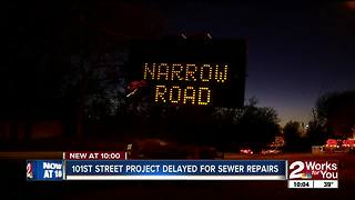 101st St road project delayed for sewer repairs - Video