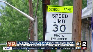 Baltimore speed cameras to begin issuing $40 fines Monday