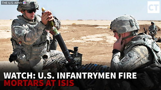 Watch: US Infantrymen Fire Mortars at ISIS
