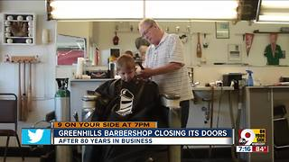 Greenhills Barber Shop to close after 80 years - Video