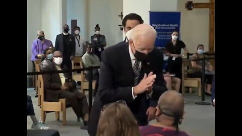 """Biden Gets in Woman's Face, Tells Her to """"Socially Distance"""""""