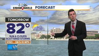 Humid and stormy start to the week - Video