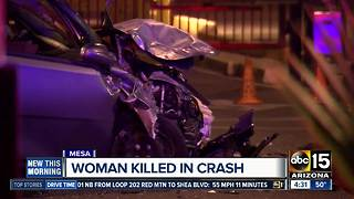 PD: Woman dies, 1 other injured in east Mesa crash
