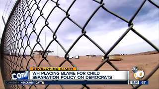 Trump blames Democrats for child separation policy