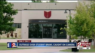 Outrage over student brawl caught on camera