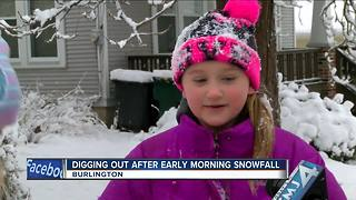 Digging Out After Early Morning Snow - Video