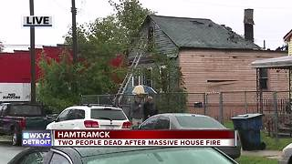 Two found dead after house fire in Hamtramck