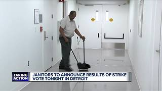 Janitors to announce results of strike vote