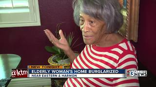 Elderly woman terrified after home burglarized