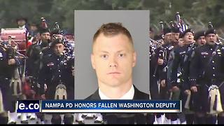 Nampa police attend services for slain Washington state deputy - Video