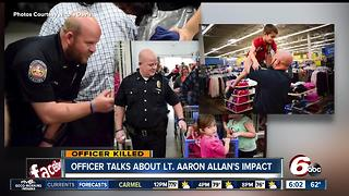 Officer says Lt. Allan was a great mentor & friend - Video