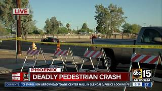 Pedestrian killed in crash near 23rd Avenue and Cactus Road - Video