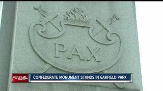 Confederate monument stands in Garfield Park - Video