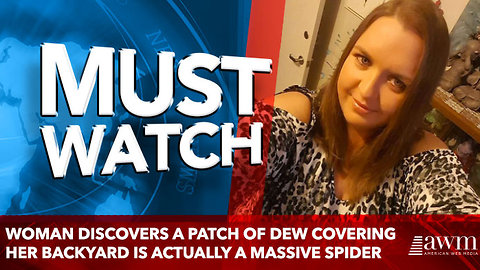 Woman discovers a patch of dew covering her backyard is actually a massive SPIDER