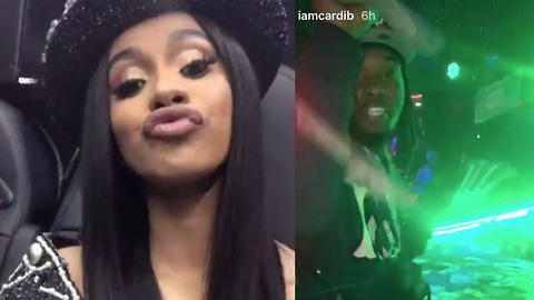 Cardi B & Offset Have Another Wild Night At The Strip Club