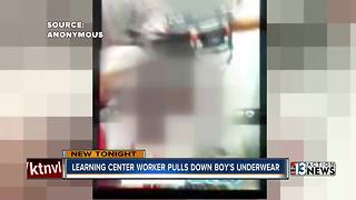 Learning center worker pulls down boy's underwear - Video