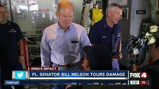 Sen. Bill Nelson tours Hurricane Irma damage