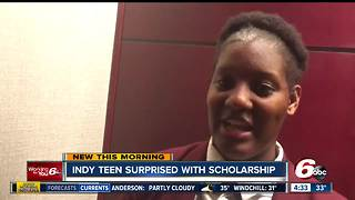Local high school student gets college scholarship from Magic Johnson - Video