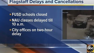 Flagstaff school and office closings for Nov. 29 - Video