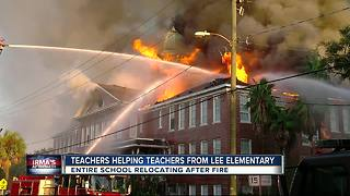Lee Elementary teachers prep for class to resume after school caught fire - Video