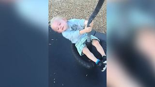 Dizzy Tot Goes For A Spin