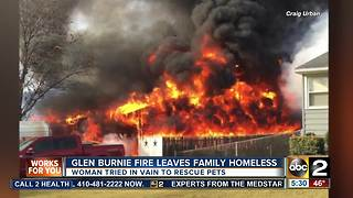 Glen Burnie fire leaves family homeless - Video