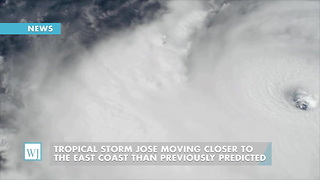 Tropical Storm Jose Moving Closer To The East Coast Than Previo - Video