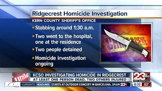 KCSO investigating a homicide in Ridgecrest - Video