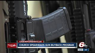 Indiana church to trade gift cards for semi-automatic guns during buyback event - Video