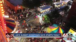 Lee's Summit Downtown Days kicks off Friday - Video