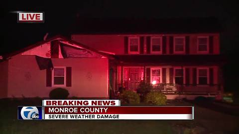 Damage reported in wake of storms, Tornado Warning in Monroe and Wayne Counties
