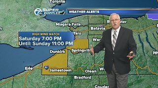 Milder going into the weekend but wet and windy coming out