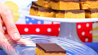 No-Bake Peanut Butter Chocolate Bars - Video